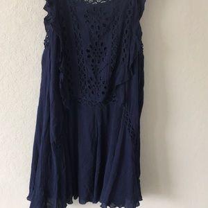Super cute blue lace dress
